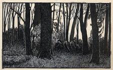 Im INNERN des WALDES - Willibald WEINGÄRTNER - ORIGINAL ZEICHNUNG von 1910
