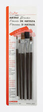 Linzer Assorted Shapes Natural Bristle Artist Paint Brush Set 5 pack