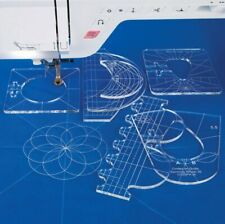 Sewing Templates Free Motion Template Set 6 - Pieces Quilting Ruler Template