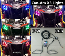 RGB Color Can-am Maverick X3 IP68 Bluetooth Control Head Light Rings Set (A01)