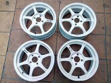 "JDM SSR type C 15"" 4x100 6J +38 4kg(!) PCD100 TE37 CE28 wheels Japan Rims Forged"