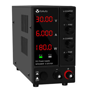 Adjustable DC Power Supply 30V 6A Laboratory Digital Regulated Bench Switching