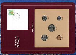 Coin Sets of All Nations Malaysia UNC 1981-1988 UNC 20,50 Sen 1988 5 Sen 1981