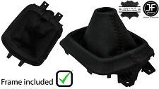 BROWN STITCH LEATHER MANUAL GEAR GAITER +PLASTIC FRAME FOR MAZDA CX5 CX-5 12-16