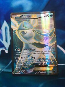 Glaceon EX - 116/124 Full Art Ultra Rare Holo Fates Collide Pokemon Card LP / NM