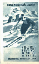 Romania 1951 Poiana Stalin 9th University Winter Games,skier,special postcard RR