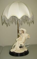 "Giuseppe Armani LAMP WITH SHADE ""AT EASE"" 0634/FBL With Original Boxes"