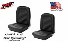 1964 &1965 Mustang Front and Rear Seat Upholstery Black Vinyl  by TMI-IN STOCK!!