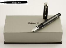 NEW Pelikan M1005 Piston Fountain Pen Stresemann Anthracite-Black 18K F, M or B