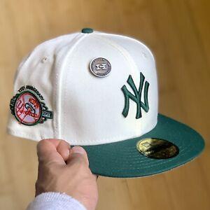 🔥 Hat Club X New Era Collaboration New York Yankees Panama Cotta 7 3/8