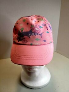 Children's Pink Nautical Adjustable Strapback Ball Cap/ Hat