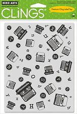 Tampon adhérente Hero Arts Machines d'écrire: cling stamp carterie scrapbooking