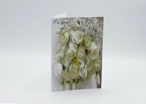Wedding Card free postage Flowers Roses Bouquet   A5