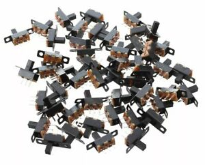 50x 3 Pin 2 Position MINI Size SPDT Slide Switches On/Off PCB <24VDC 1.5A Switch