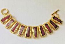 Gold Costume Enamel Statement Bracelet