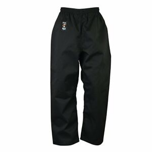 Playwell Karate Polialgodón Pantalones Negro Fondos Adultos Pantalones Gi Fondos