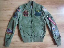 Alpha Industries Ladies Nylon Bomber Jacket Size XS
