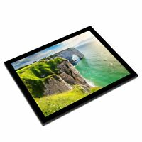 A3 Glass Frame - Aval Cliff Etretat Normandy France Art Gift #12376