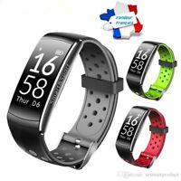 Montre Connectée Noir/gris Smartwatch Bracelet étanche Bluetooth Android Apple