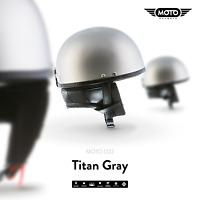 MOTO D22 BRAINCAP + HALBSCHALEN-HELM JET-HELM Motorrad-HELM Retro Mofa - S-XXL