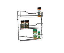 3 Tiers Spice Rack Chrome Kitchen Organizer Storage Shelf Cabinet Holder entree
