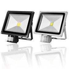 LED Floodlight PIR Sensor 30W 50W Cool Warm White Outdoor Garden Security Lights