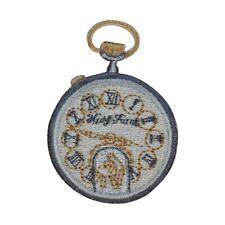 #2204 Gold,Silver Trim Fringe,Pocket Watch,Heart,Lock,Key Iron On Applique Patch