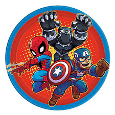 MARVEL SUPER HERO ADVENTURES SMALL PAPER PLATES (8) ~ Birthday Party Supplies