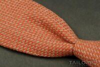 """HOLIDAY & BROWN Orange Beige WOVEN 100% CASHMERE Mens Luxury Tie - 4.00"""""""