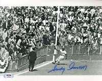 Sandy Amoros PSA DNA Coa Hand Signed 8x10 Photo Autograph