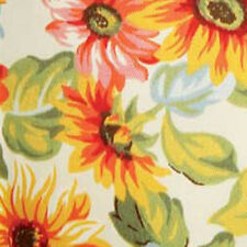 Longaberger TV Time Basket Sunflower Fabric Over Edge Liner Only New