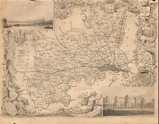 1850 CA Antique County Carte-Mold-Middlesex