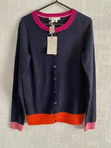 BODEN navy blue 100% cashmere  cardigan   size XS . NEW KO011
