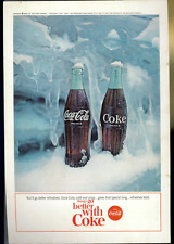 Coca Cola Advertisement - Vintage July 1964 Coke Soda Pop Bottle Cap Print Ad