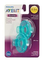Philips Avent  Soothie 0-3mth Green/Green Calm Baby Pack Of Two
