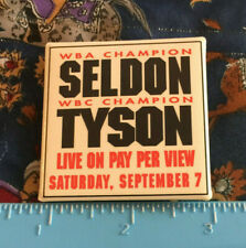 Vintage TUPAC RIP Mike Tyson vs Seldon WBA WBC Boxing Pin MGM Grand Pay Per View