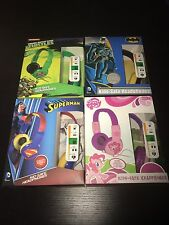 Kids Headphones SUPERMAN Batman TEENAGE MUTANT NINJA TURTLES My Little Pony NEW