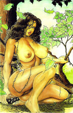 CAVEWOMAN MERIEMS GALLERY #5, BUDD ROOT Special Edition NUDE, Nice! NM New