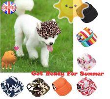 More details for dog sun hat pet baseball cap adjustable sunscreen ear holes visor cap s-xl sizes