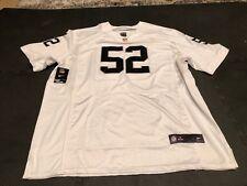Oakland Raiders White Alternate Nike Jersey Size 60