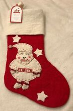 NEW Pottery Barn Kids Santa Classic Felted Wool Stocking No Monogram NWT