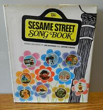 """1971 """"The Sesame Street Song Book"""" By Joe Raposo & Jeffery Moss with dust cover"""