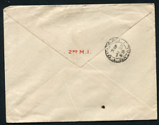 ORANGE RIVER COLONY (21822) 2nd M.I flap/Harrismith Army cancel/cover