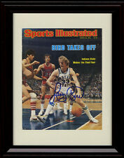 Framed Larry Bird Sports Illustrated Auto Replica Print Indiana State Sycamores