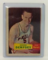 ESTATE SALE (1) VINTAGE 1957 SIGNED TOPPS NBA BASKETBALL CARD GEORGE DEMPSEY