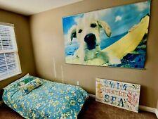 Pottery Barn Teen Wahine Floral Stripe Full Duvet Cover bed skirt pillow cases