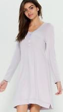 La Perla Studio Long Sleeve Henley Nightgown L Lavender Purple