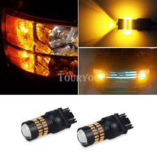 OXILAM 2X Front Turn Signal Light 3157 Amber LED Bulb Yellow Blinker for Ram