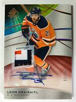 2019-20 SP Game Used Leon Draisaitl 3 Color Patch Auto /15
