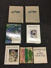 Marc Chagall SEVEN book lot Ceramiques Homage Monotypes no Lithographs RARE